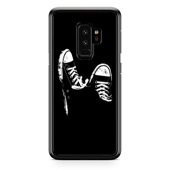 Converse White Silhouette Samsung Galaxy S9 Plus Case | Frostedcase