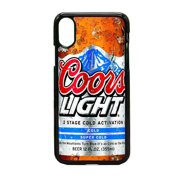 Coors Light Beer Cold iPhone X Case | Frostedcase