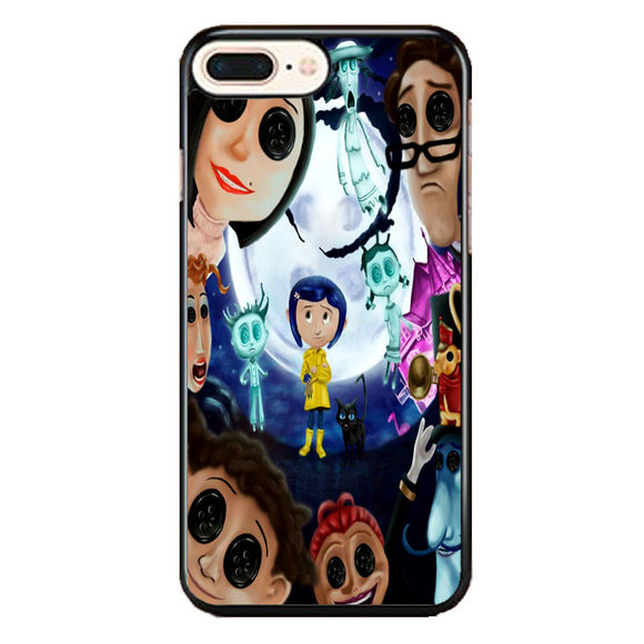 Coraline Button Eyes Characters iPhone 8 Plus Case | Frostedcase