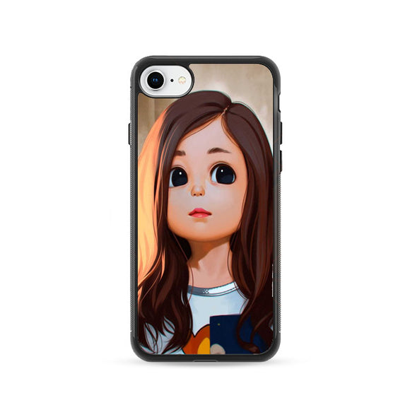 Cute Cartoon Characters Female iPhone 8 Case | Frostedcase