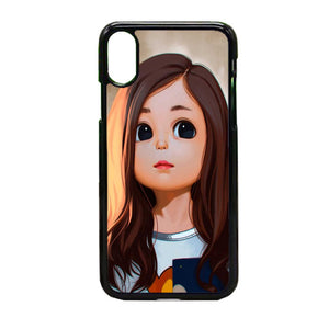 Cute Cartoon Characters Female iPhone X Case | Frostedcase