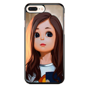 Cute Cartoon Characters Female iPhone 8 Plus Case | Frostedcase