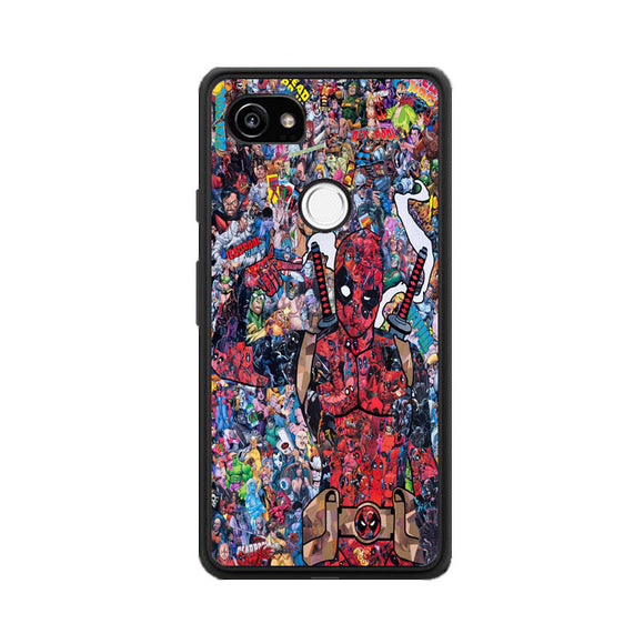 Deadpool Doodle Google Pixel 2 XL Case | Frostedcase