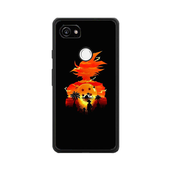 Dragon Ball Sunset Google Pixel 2 XL Case | Frostedcase