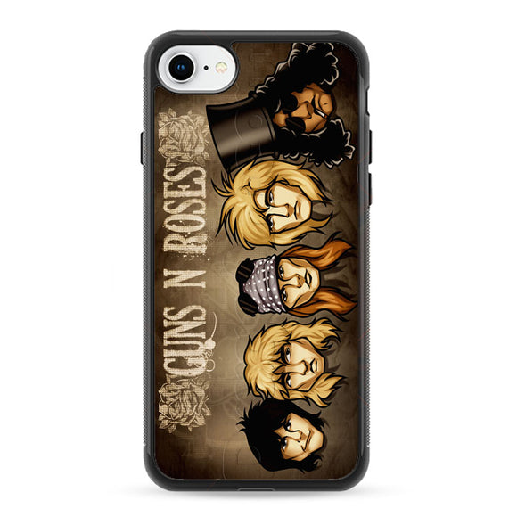 Draw Guns N Roses Art iPhone 8 Case   Frostedcase