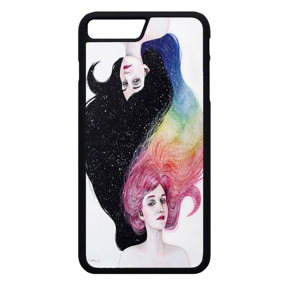 Drawing Girl With Colors iPhone 7 Plus Case | Frostedcase