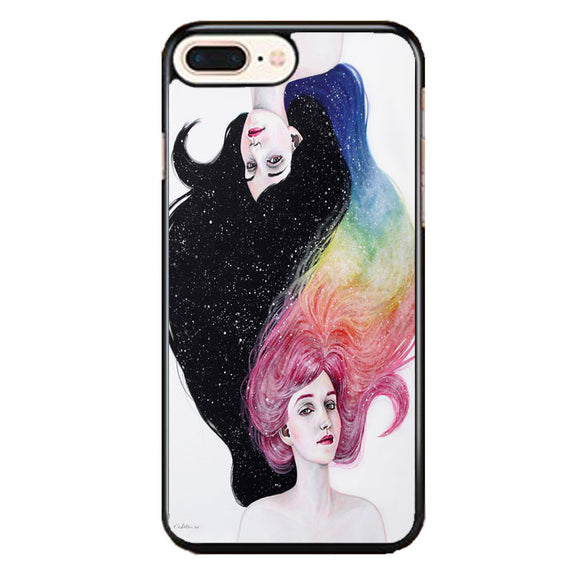 Drawing Girl With Colors iPhone 8 Plus Case | Frostedcase