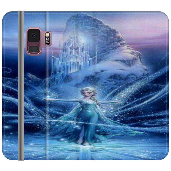 Elsa Frozen Pink Dress Samsung Galaxy S9 Flip Case | Frostedcase