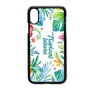 Flor Hojas Tropicales Acuarela iPhone X Case | Frostedcase