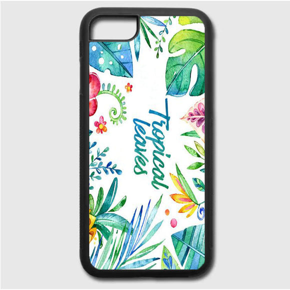 Flor Hojas Tropicales Acuarela iPhone 7 Case | Frostedcase