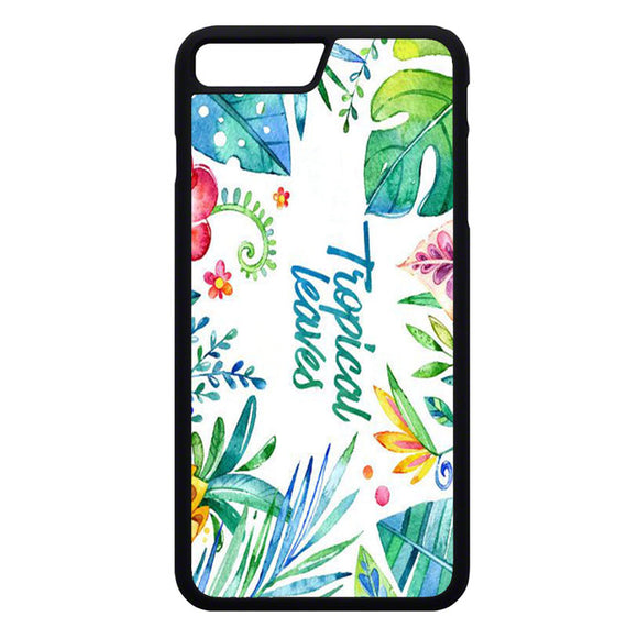 Flor Hojas Tropicales Acuarela iPhone 7 Plus Case | Frostedcase