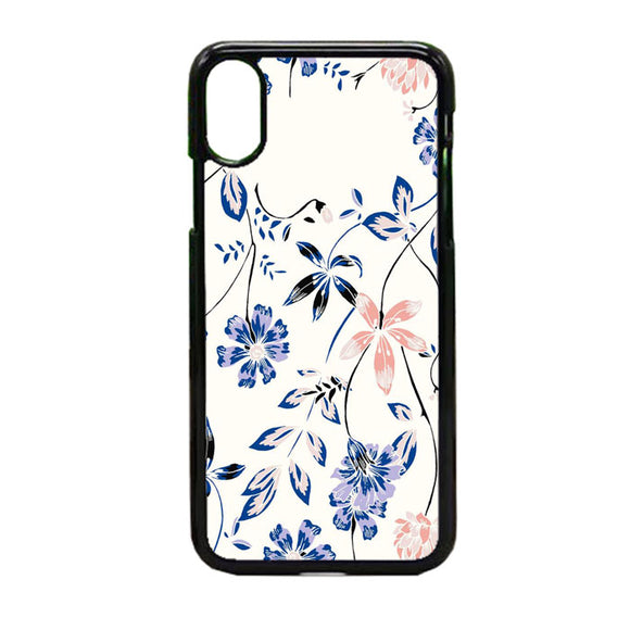 Flower Blue iPhone X Case | Frostedcase