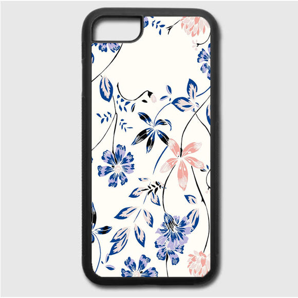 Flower Blue iPhone 7 Case | Frostedcase