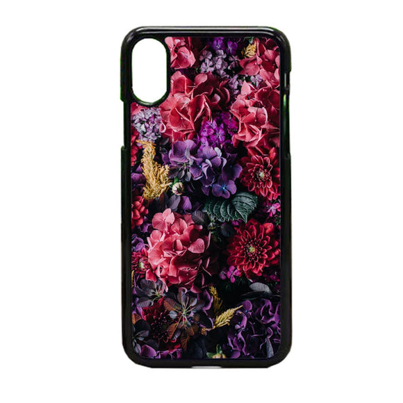 Flower Purple Pink iPhone X Case | Frostedcase