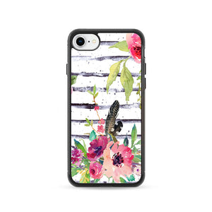 Flower Purple Pink iPhone 8 Case | Frostedcase