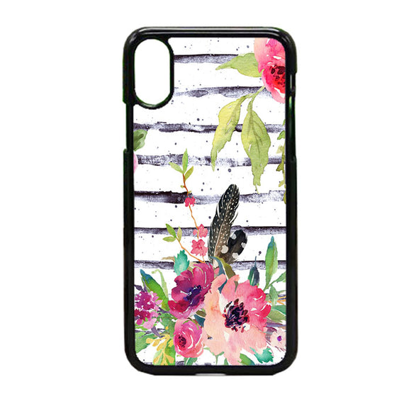 Flower Water Color iPhone X Case | Frostedcase
