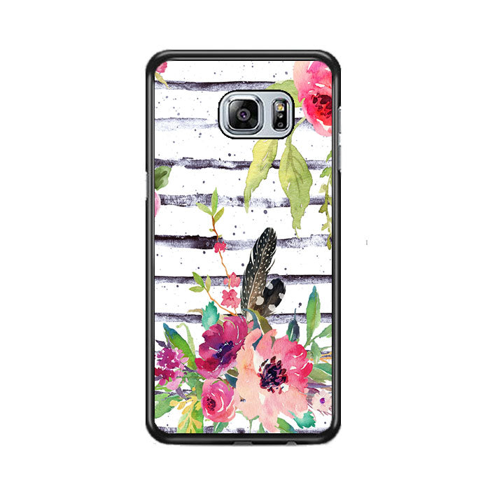 Flower Water Color Samsung Galaxy S6 EDGE Plus Case   Frostedcase