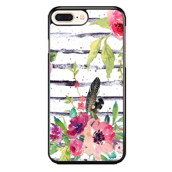 Flower Water Color iPhone 8 Plus Case | Frostedcase
