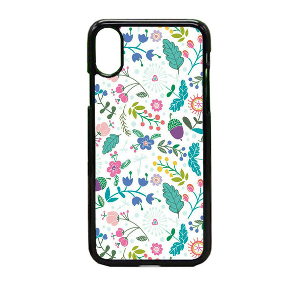 Flower White iPhone X Case | Frostedcase
