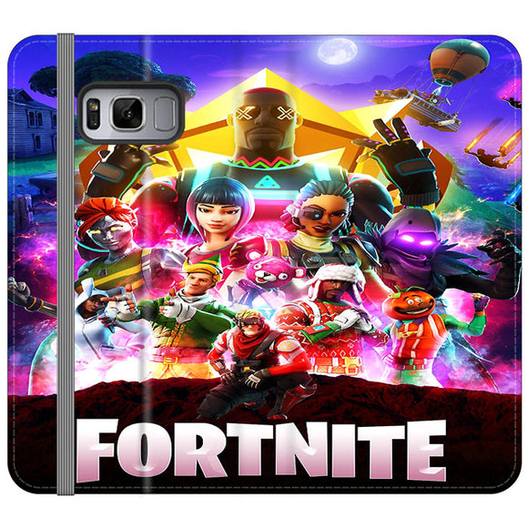 Fortnite Game Power Ranger Poster Color Samsung Galaxy S8 Flip Case | Frostedcase