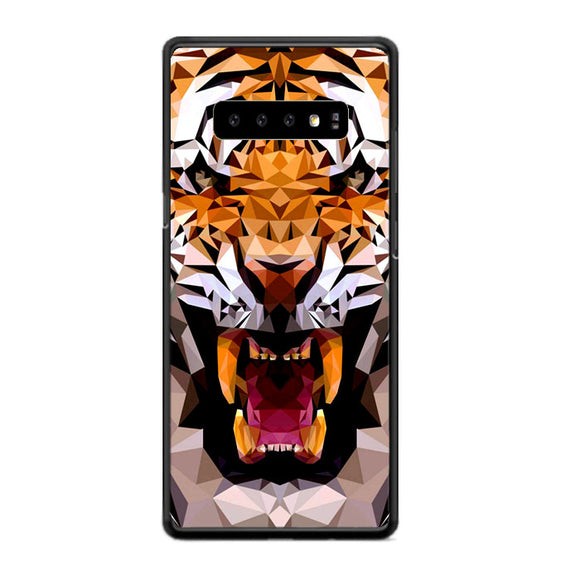 Geometric Tiger Samsung Galaxy S10 Plus Case | Frostedcase