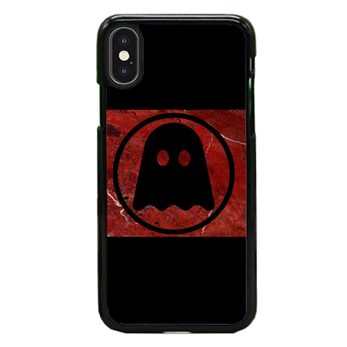 Ghostly International Dark Red Red Marble Logo iPhone XS Max Case | Frostedcase