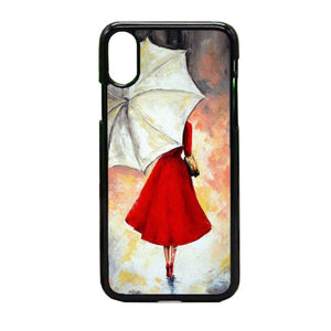 Girl With Umbrella Painting iPhone X Case | Frostedcase