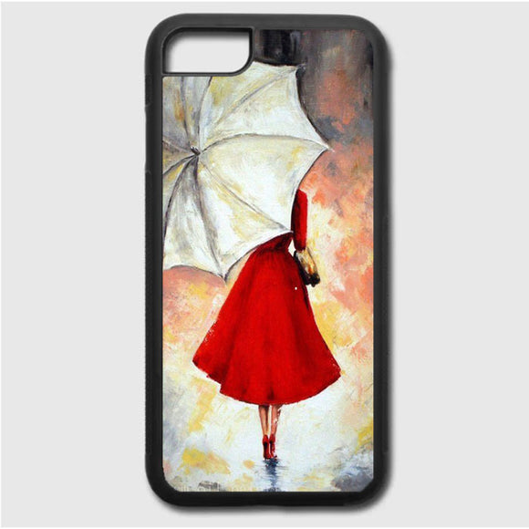 Girl With Umbrella Painting iPhone 7 Case | Frostedcase