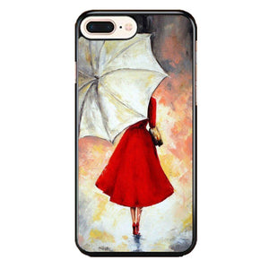 Girl With Umbrella Painting iPhone 8 Plus Case | Frostedcase