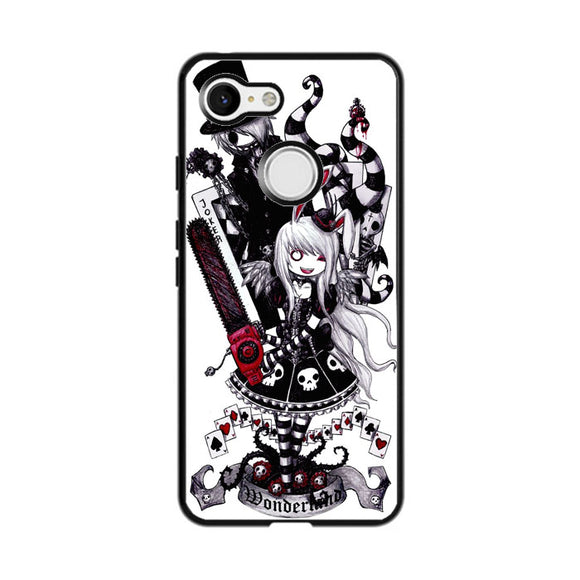 Gothic Alice In Wonderland Tattoo Google Pixel 3 XL Case | Frostedcase