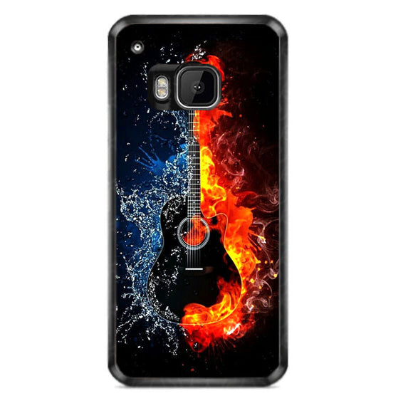Guitar On Fire HTC One M9 Case | Frostedcase