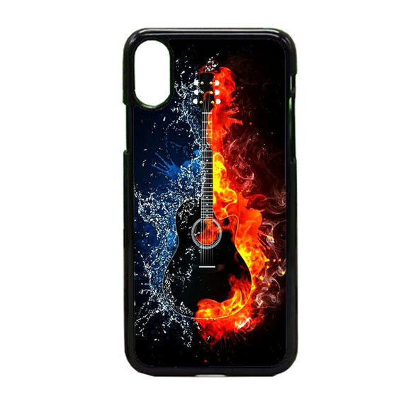 Guitar On Fire iPhone X Case | Frostedcase
