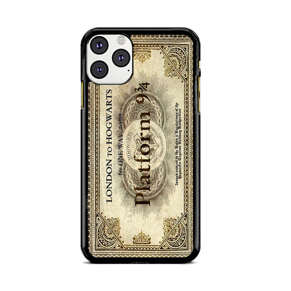 Harry Potter Train Ticket Platform London To Hogwarts iPhone 11 Pro Max Case | Frostedcase