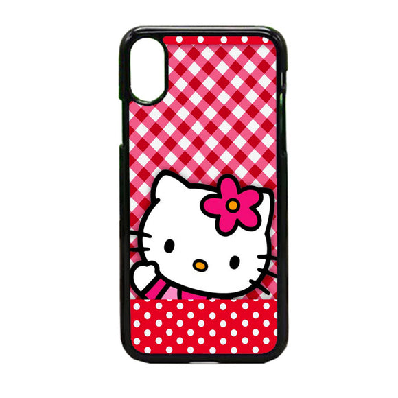 Hello Kitty Polkadot Red iPhone X Case | Frostedcase