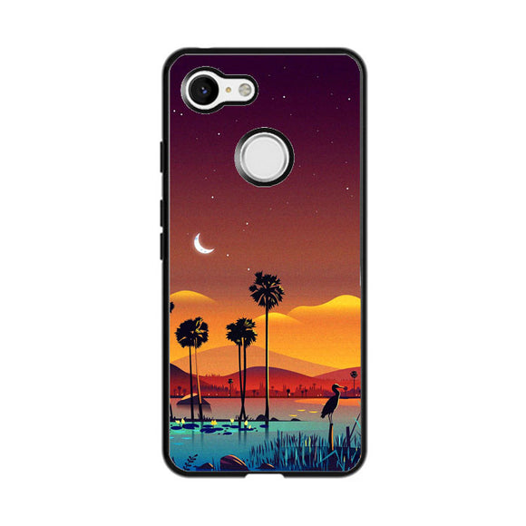 Illustrator Sunset Google Pixel 3 Case | Frostedcase