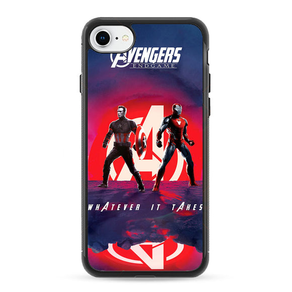 Iron Man X Captain America Avengers Endgame Poster iPhone 8 Case | Frostedcase