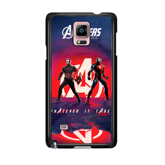 Iron Man X Captain America Avengers Endgame Poster Samsung Galaxy Note 4 Case | Frostedcase