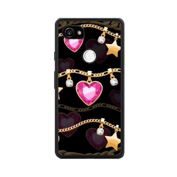 Jewelry Heart Google Pixel 2 XL Case | Frostedcase