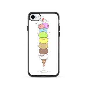 Kawaii Cat Ice Cream iPhone 8 Case | Frostedcase