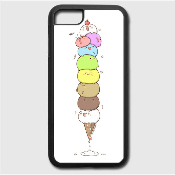 Kawaii Cat Ice Cream iPhone 7 Case | Frostedcase
