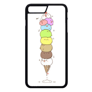 Kawaii Cat Ice Cream iPhone 7 Plus Case | Frostedcase
