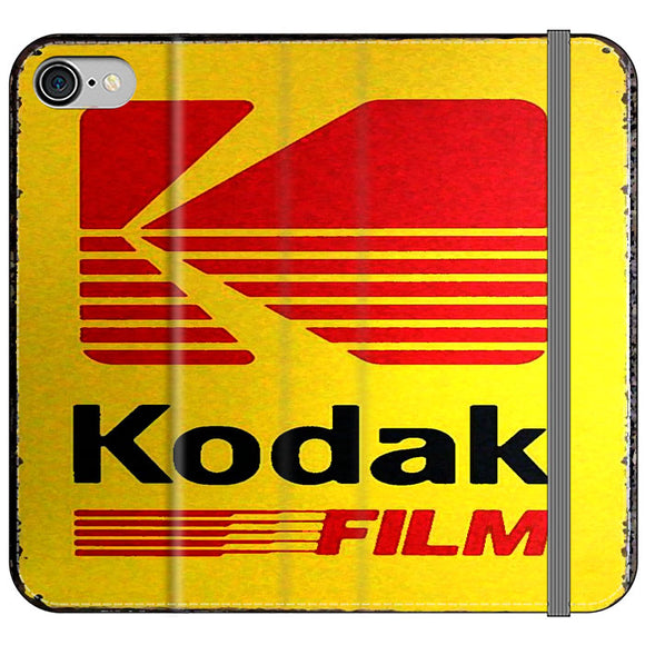 Kodak Film Coffee Vintage iPhone 8 Flip Case | Frostedcase