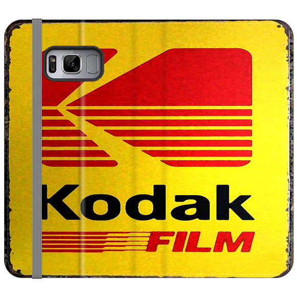 Kodak Film Coffee Vintage Samsung Galaxy S8 Flip Case | Frostedcase