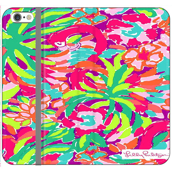 Lilly Pulitzer Flamingo Draw iPhone 6 Plus|6S Plus Flip Case | Frostedcase