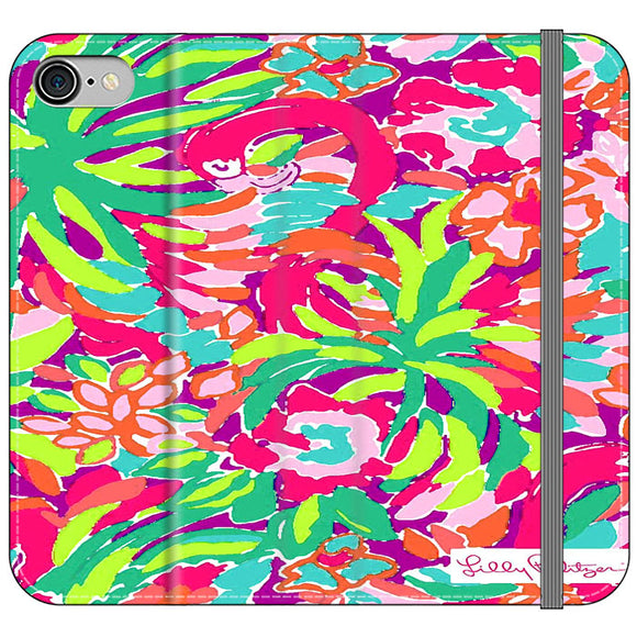 Lilly Pulitzer Flamingo Draw iPhone 7 Flip Case | Frostedcase