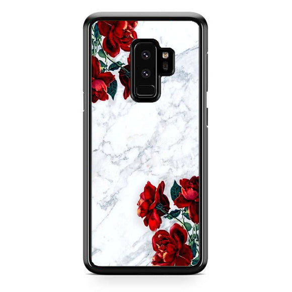 Marble With Roses Samsung Galaxy S9 Plus Case | Frostedcase