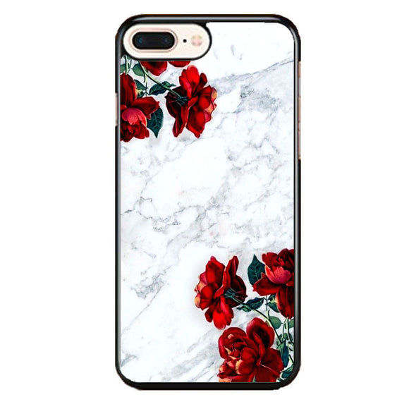 Marble With Roses iPhone 8 Plus Case | Frostedcase