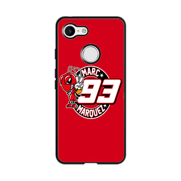 Marc Marquez Logo Red Google Pixel 3 Case | Frostedcase