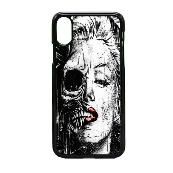 Marilyn Monroe Skull iPhone X Case | Frostedcase