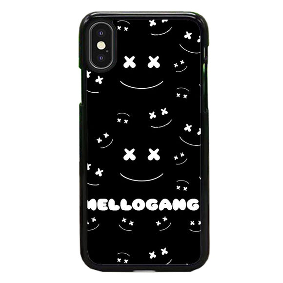 Marshmello Mellogang Black Art iPhone X Case | Frostedcase